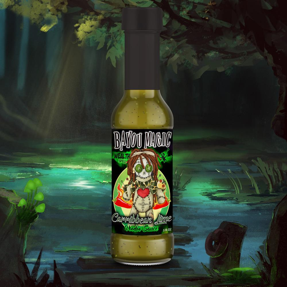 Bayou Magic Foods Santeria Wealth Spell Caribbean Lime Flavor Voodoo Sauce