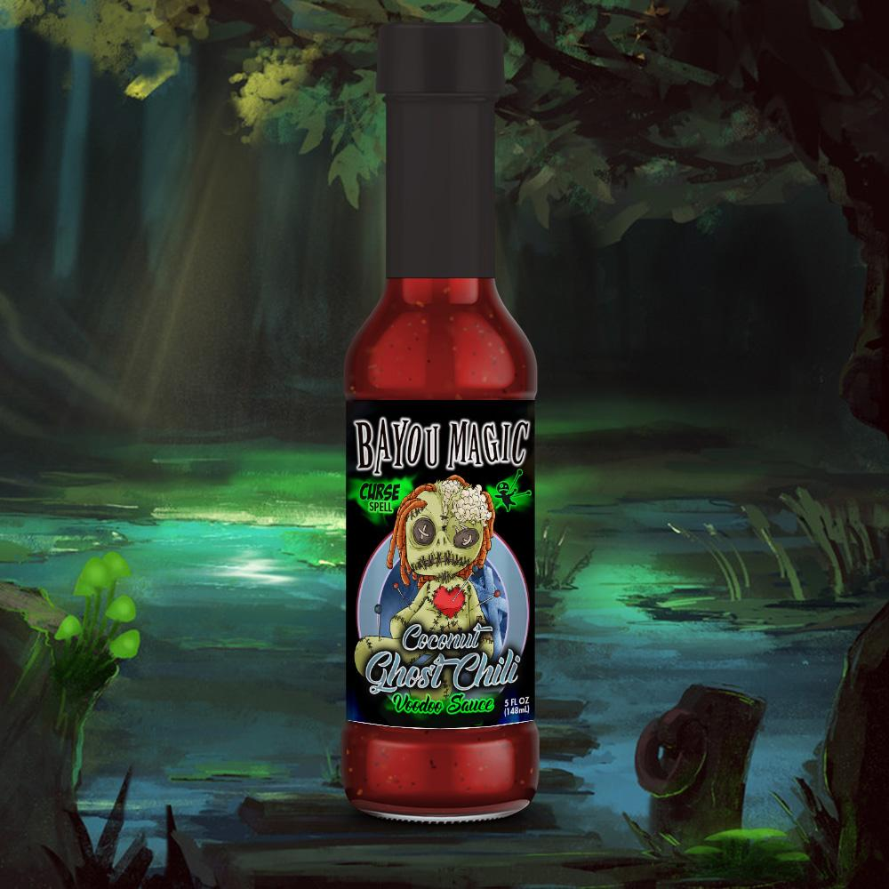 Bayou Magic Foods Curse Spell Coconut Ghost Chili Flavor Voodoo Sauce